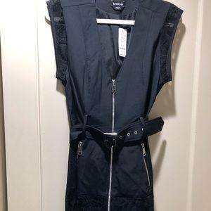 Sleeveless belted jacket vest